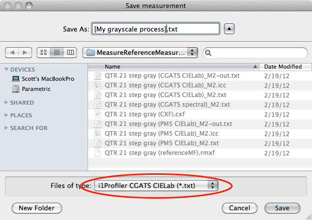 saving grayscale measurement files in i1Profiler