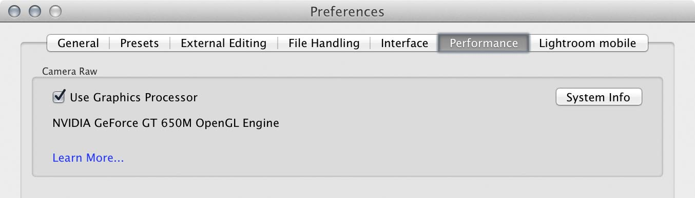 Enable GPU acceleration in the new Performance tab in the Preferences.